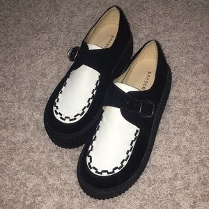Creepers black and white never worn just tried on
